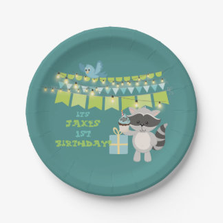 Birthday Bear With Cup Cake Paper Plate
