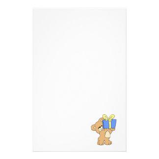 Birthday Bear with Present Stationery