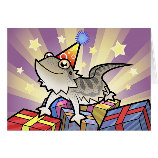 Birthday Bearded Dragon / Rankin Dragon Greeting Cards