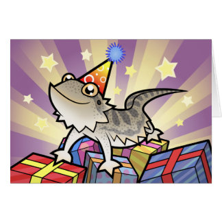 Birthday Bearded Dragon / Rankin Dragon Greeting Card