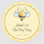 Birthday Bee-Day Favour Sticker | Bumble Bee