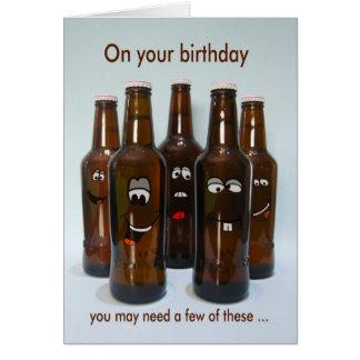 Birthday Beer Humor Getting Older Greeting Card