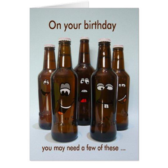 Birthday Beer Humour Getting Older Card