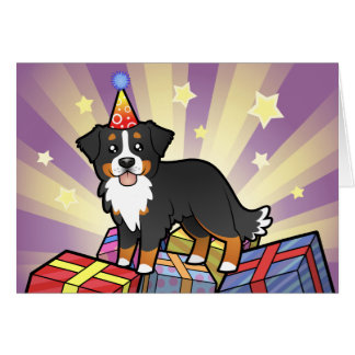Birthday Bernese Mountain Dog Card