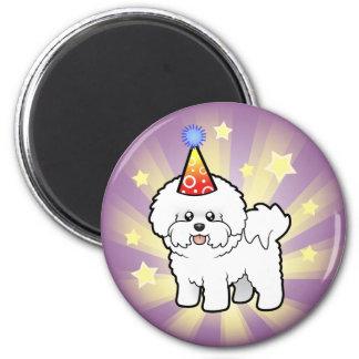 Birthday Bichon Frise 6 Cm Round Magnet