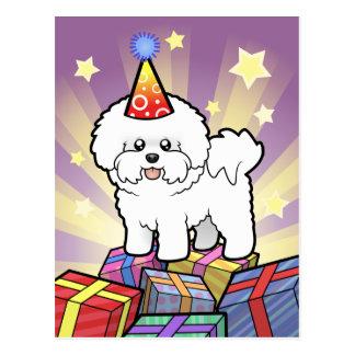 Birthday Bichon Frise Postcard