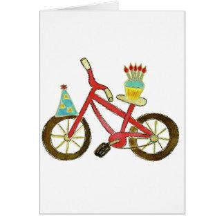 Birthday Bike with Cupcake Greeting Card