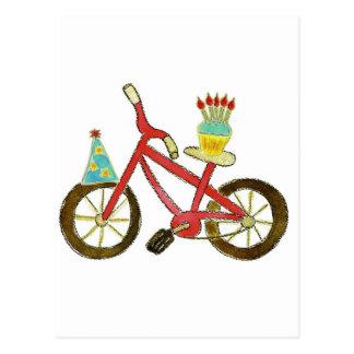 Birthday Bike with Cupcake Post Card
