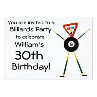 Birthday Billiards Party Invitation