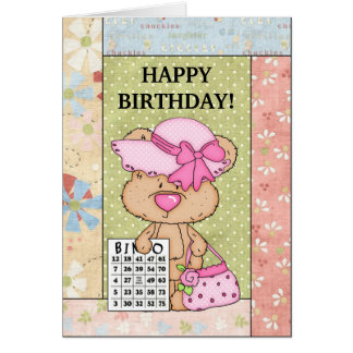 Birthday Bingo greeting card