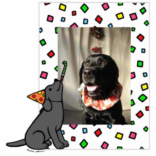 Birthday Black Labrador Cartoon Photo Frame Photo Sculpture