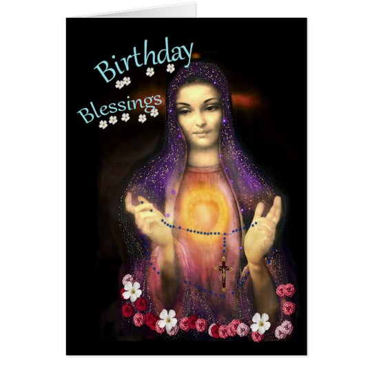 Birthday Blessings and a beautiful keepsake Card