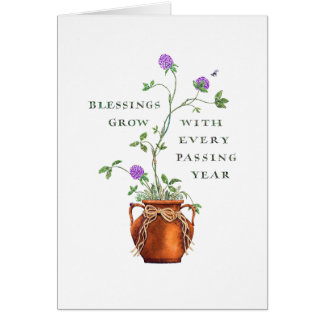 Birthday/Blessings Grow Card