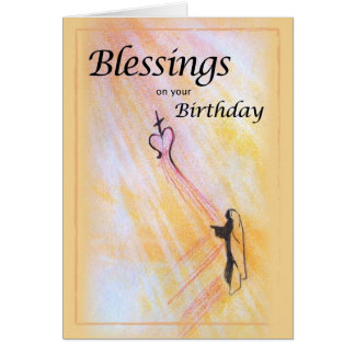 Birthday Blessings, Religious Greeting Card