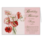 Birthday Blessings Scripture card to a Special Mum