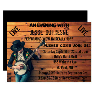 Country Music Birthday Cards Invitations