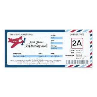 Birthday Boarding Pass Ticket 10 Cm X 24 Cm Invitation Card