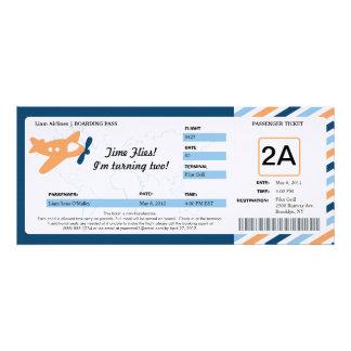Birthday Boarding Pass Ticket Personalized Invite