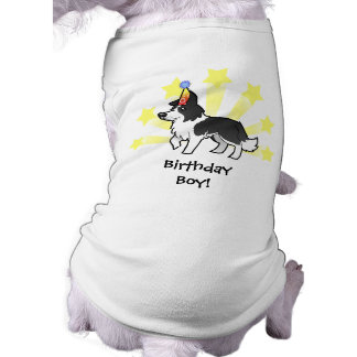 Birthday Border Collie Sleeveless Dog Shirt