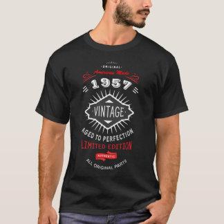 Birthday Born 1957 or Any Year Custom Vintage T-Shirt