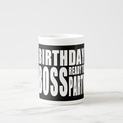 Birthday Boss Ready to Party Bone China Mugs