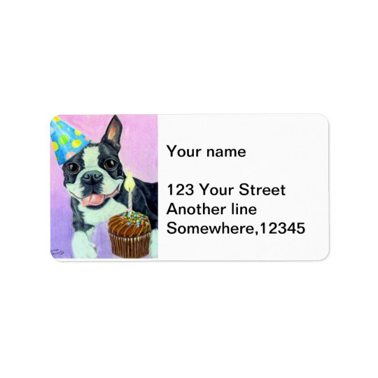 Birthday Boston Label