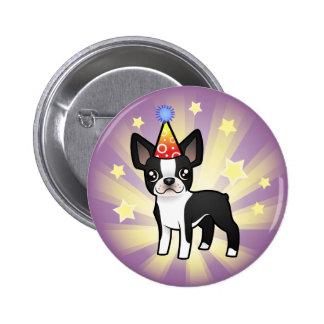 Birthday Boston Terrier 6 Cm Round Badge