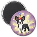 Birthday Boston Terrier 6 Cm Round Magnet