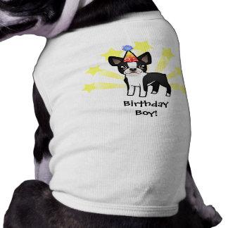 Birthday Boston Terrier Sleeveless Dog Shirt