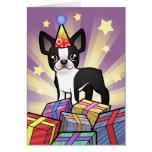Birthday Boston Terrier Greeting Card