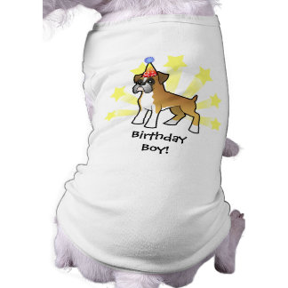 Birthday Boxer Sleeveless Dog Shirt