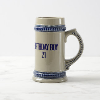 Birthday Boy 21 Beer Stein