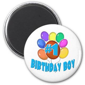 Birthday Boy 6 Cm Round Magnet