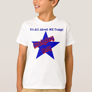Birthday Boy All About Me Kids Cute T-Shirt