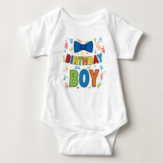 Birthday Boy Baby party shirt Bow Tie and confetti