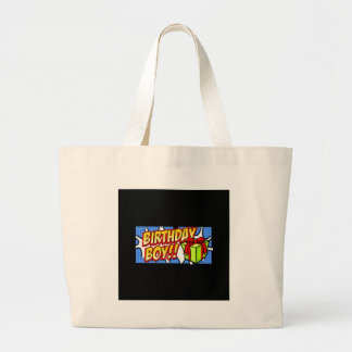 Birthday Boy Banner Tote Bags