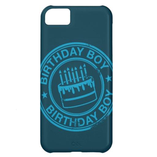 Birthday Boy -blue rubber stamp effect- iPhone 5C Case