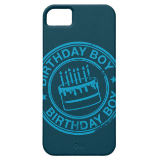 Birthday Boy -blue rubber stamp effect- iPhone 5 Case