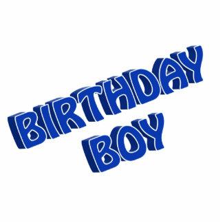 Birthday Boy Blue Text Image Acrylic Cut Out