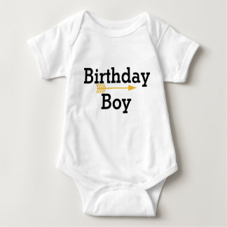 Birthday Boy - Boho Gold Arrow - Customize Baby Bodysuit