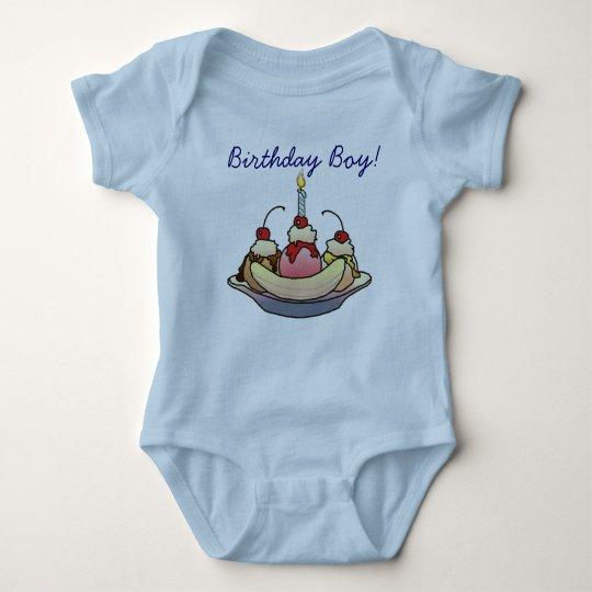 BIRTHDAY BOY by SHARON SHARPE Baby Bodysuit