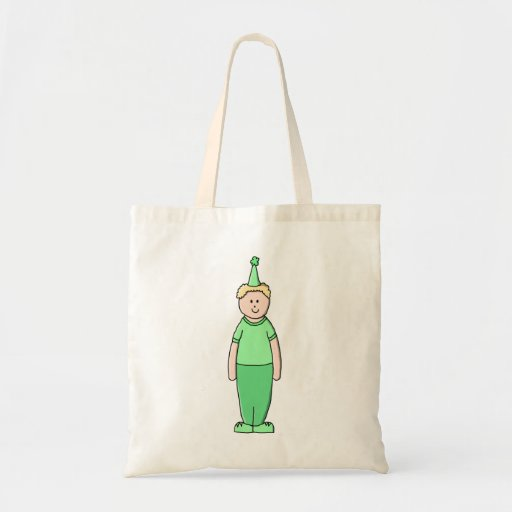 Birthday Boy Cartoon in Green. Tote Bag