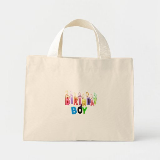 Birthday Boy Colorful Candles Collage Bags