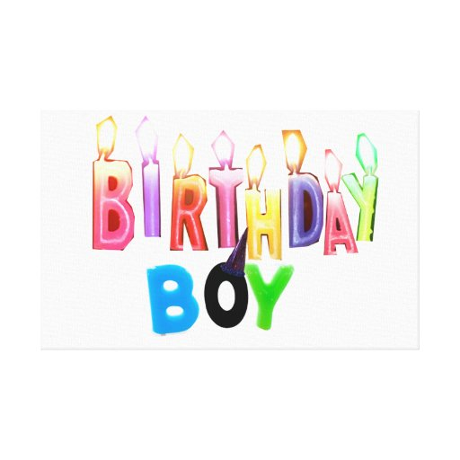 Birthday Boy Colorful Candles Collage Gallery Wrapped Canvas