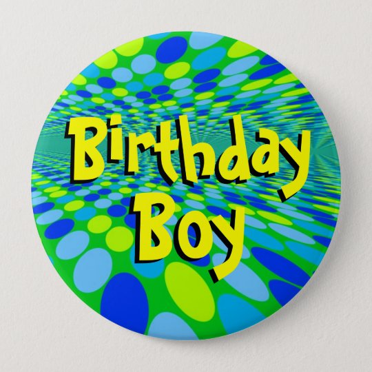 Birthday Boy Cool Button Pin