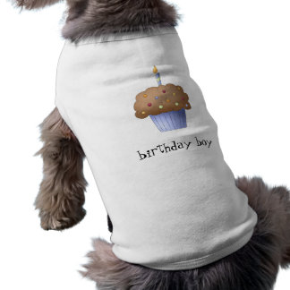 Birthday Boy Cupcake Sleeveless Dog Shirt