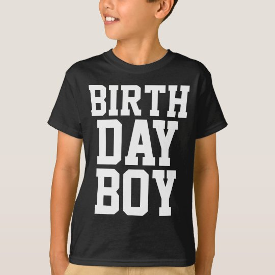 Birthday Boy (Custom Age At Back) T-Shirt