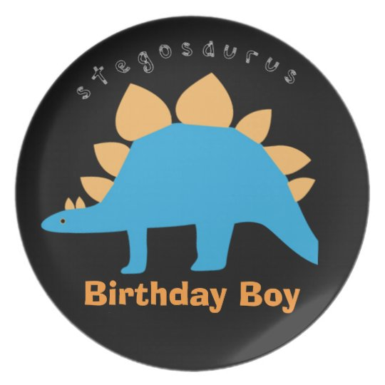 Birthday Boy Dinosaur Melamine Plates for Kids