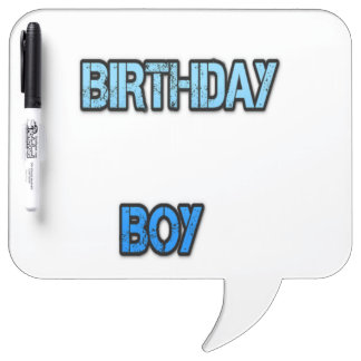 Birthday Boy Dry Erase Whiteboards