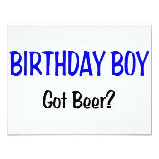 Birthday Boy Got Beer Blue Card